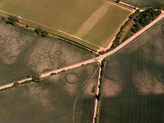 cropmarks for ring ditches and trackway