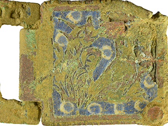 medieval enamelled buckle