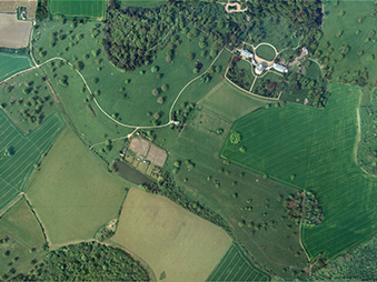 aerial view of Ickworth Park, Suffolk