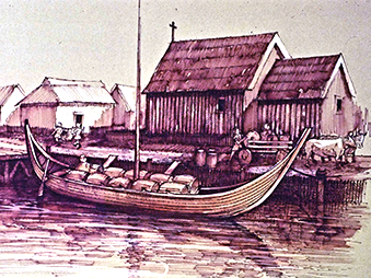 illustration of St Peters Wharfe