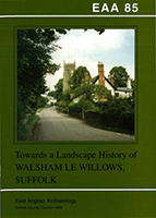 front cover with colour image of the village