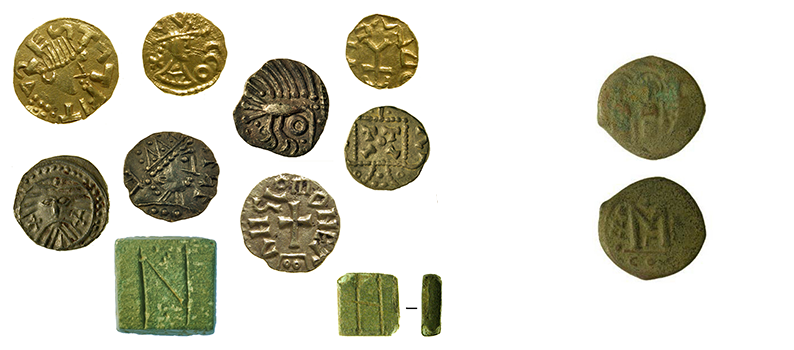 coins and weights from Rendlesham