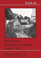 front cover showing reconstructed anglo-saxon houses