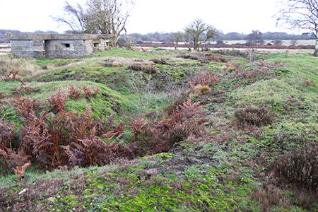 pill box and earthwork trenches