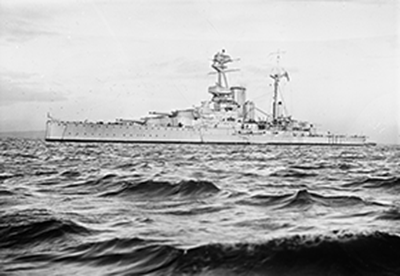wartime photo of ship HMS Royal Sovereign